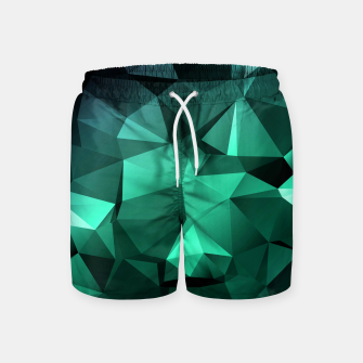 Thumbnail image of green polygon , green , polygon , geometric Swim Shorts, Live Heroes