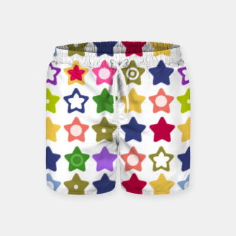 Miniatur Multi-colored stars , stars , bright Swim Shorts, Live Heroes