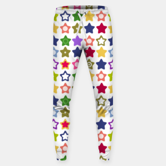Miniatur Multi-colored stars , stars , bright Sweatpants, Live Heroes