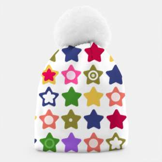Miniatur Multi-colored stars , stars , bright Beanie, Live Heroes