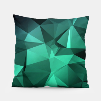 Thumbnail image of green polygon , green , polygon , geometric Pillow, Live Heroes