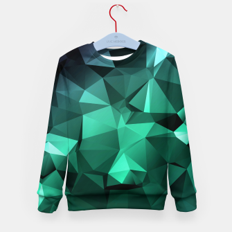 Thumbnail image of green polygon , green , polygon , geometric Kid's sweater, Live Heroes