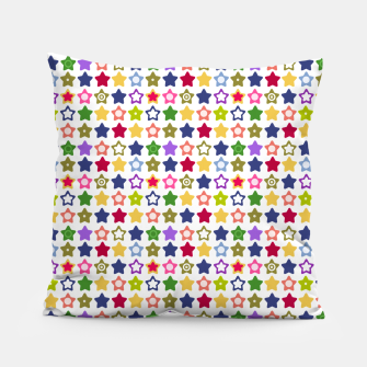 Thumbnail image of Multi-colored stars , stars , bright Pillow, Live Heroes