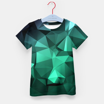 Thumbnail image of green polygon , green , polygon , geometric Kid's t-shirt, Live Heroes
