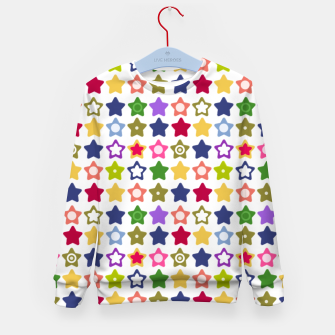 Miniatur Multi-colored stars , stars , bright Kid's sweater, Live Heroes