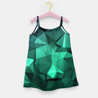 Thumbnail image of green polygon , green , polygon , geometric Girl's dress, Live Heroes
