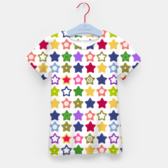Miniatur Multi-colored stars , stars , bright Kid's t-shirt, Live Heroes