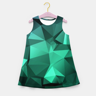 Thumbnail image of green polygon , green , polygon , geometric Girl's summer dress, Live Heroes