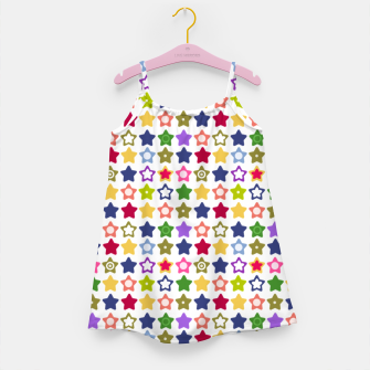 Miniatur Multi-colored stars , stars , bright Girl's dress, Live Heroes