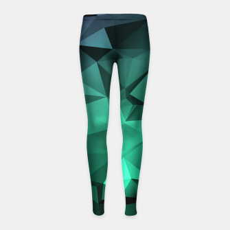 Thumbnail image of green polygon , green , polygon , geometric Girl's leggings, Live Heroes