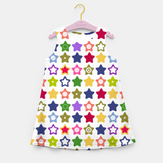 Thumbnail image of Multi-colored stars , stars , bright Girl's summer dress, Live Heroes