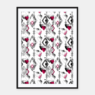 Love , Valentine's day , red , heart , wedding Framed poster thumbnail image