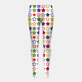 Thumbnail image of Multi-colored stars , stars , bright Girl's leggings, Live Heroes