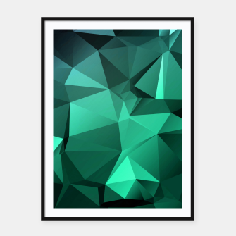 Thumbnail image of green polygon , green , polygon , geometric Framed poster, Live Heroes