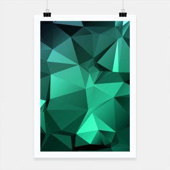 Thumbnail image of green polygon , green , polygon , geometric Poster, Live Heroes
