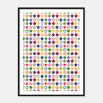 Thumbnail image of Multi-colored stars , stars , bright Framed poster, Live Heroes