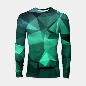Thumbnail image of green polygon , green , polygon , geometric Longsleeve rashguard , Live Heroes
