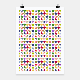 Miniatur Multi-colored stars , stars , bright Poster, Live Heroes