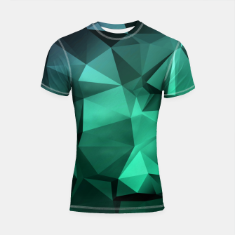 Thumbnail image of green polygon , green , polygon , geometric Shortsleeve rashguard, Live Heroes