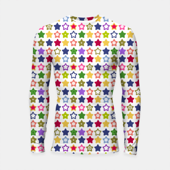 Thumbnail image of Multi-colored stars , stars , bright Longsleeve rashguard , Live Heroes