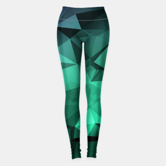 Thumbnail image of green polygon , green , polygon , geometric Leggings, Live Heroes