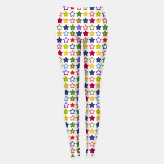 Thumbnail image of Multi-colored stars , stars , bright Leggings, Live Heroes