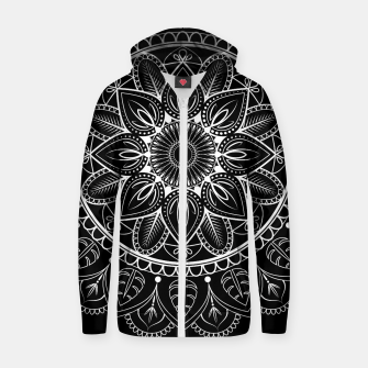 Thumbnail image of White and Black Mandala I Zip up hoodie, Live Heroes