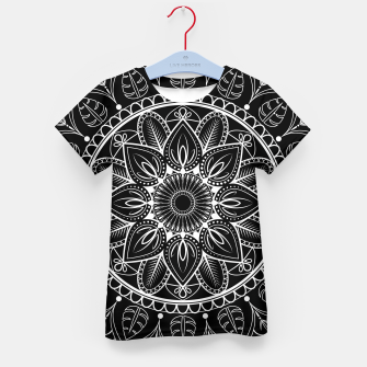 Thumbnail image of White and Black Mandala I Kid's t-shirt, Live Heroes
