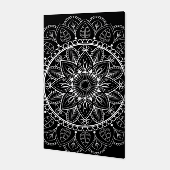Thumbnail image of White and Black Mandala I Canvas, Live Heroes