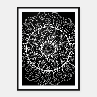 Thumbnail image of White and Black Mandala I Framed poster, Live Heroes