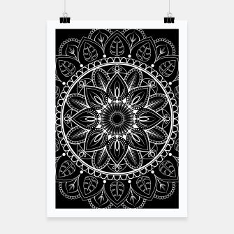 Thumbnail image of White and Black Mandala I Poster, Live Heroes