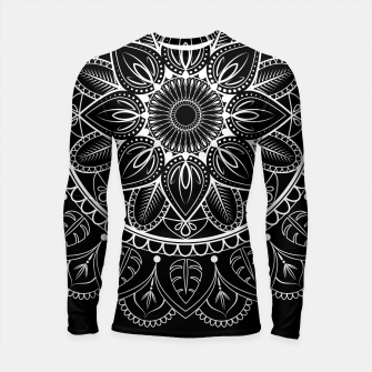 Thumbnail image of White and Black Mandala I Longsleeve rashguard , Live Heroes