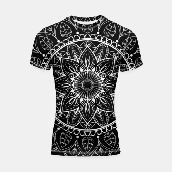 Thumbnail image of White and Black Mandala I Shortsleeve rashguard, Live Heroes