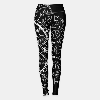 Thumbnail image of White and Black Mandala I Leggings, Live Heroes