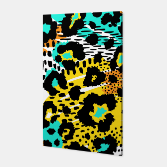 Thumbnail image of Modern abstract Animal Print Canvas, Live Heroes