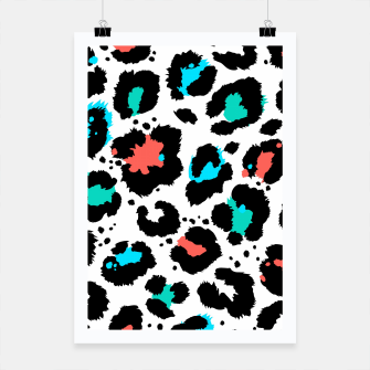 Thumbnail image of Modern abstract Animal Print Plakat, Live Heroes