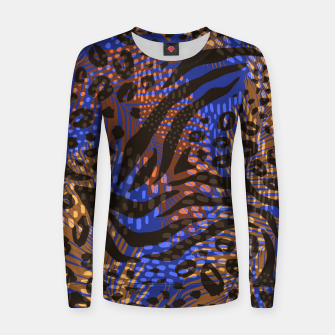 Thumbnail image of Modern abstract Animal Print Frauen sweatshirt, Live Heroes