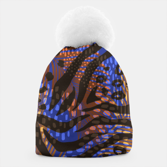 Thumbnail image of Modern abstract Animal Print Mütze, Live Heroes