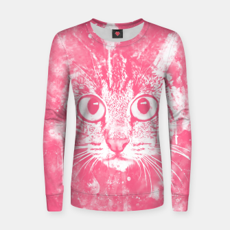 Thumbnail image of cat big eyes wspw Women sweater, Live Heroes