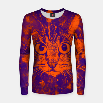 Thumbnail image of cat big eyes wsvo Women sweater, Live Heroes