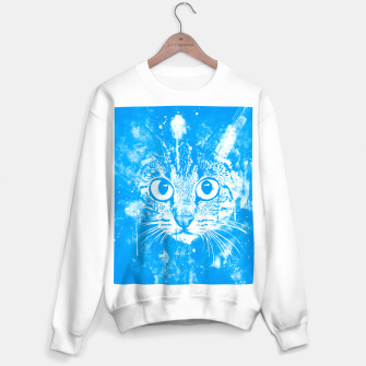 cat big eyes wswb Sweater regular thumbnail image