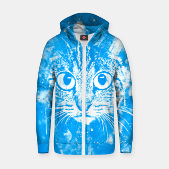 cat big eyes wswb Zip up hoodie thumbnail image