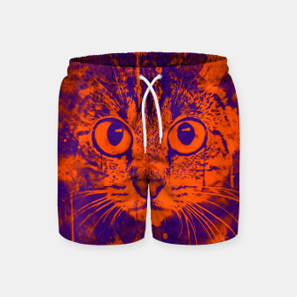 Miniature de image de cat big eyes wsvo Swim Shorts, Live Heroes