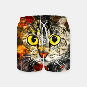 Thumbnail image of cat big eyes wsstd Swim Shorts, Live Heroes
