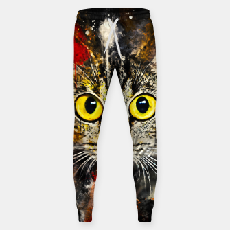 Thumbnail image of cat big eyes wsstd Sweatpants, Live Heroes
