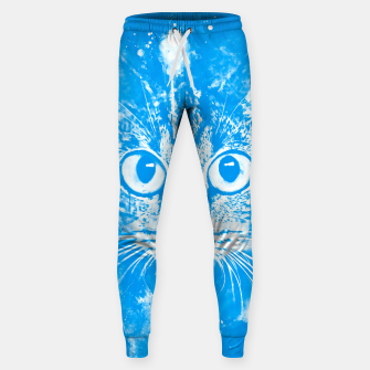 cat big eyes wswb Sweatpants thumbnail image