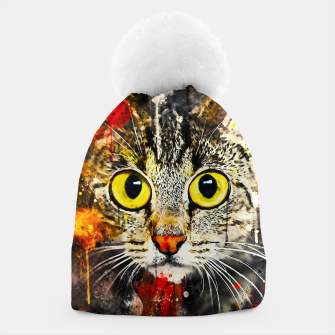 Miniature de image de cat big eyes wsstd Beanie, Live Heroes