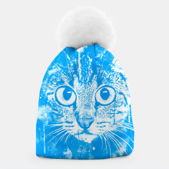 cat big eyes wswb Beanie thumbnail image
