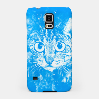 Thumbnail image of cat big eyes wswb Samsung Case, Live Heroes