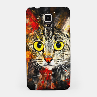 Thumbnail image of cat big eyes wsstd Samsung Case, Live Heroes